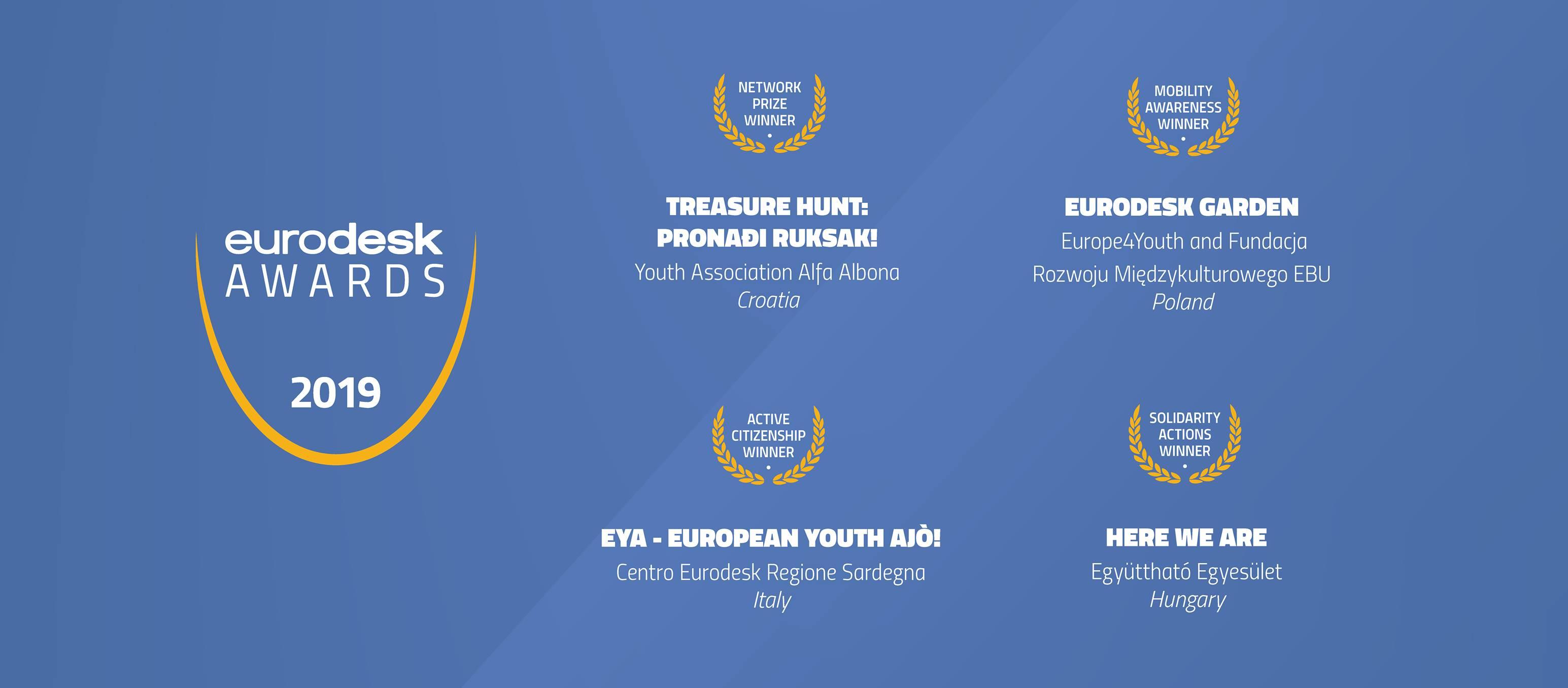 European Eurodesk Awards 2019: cerimonia di premiazione!