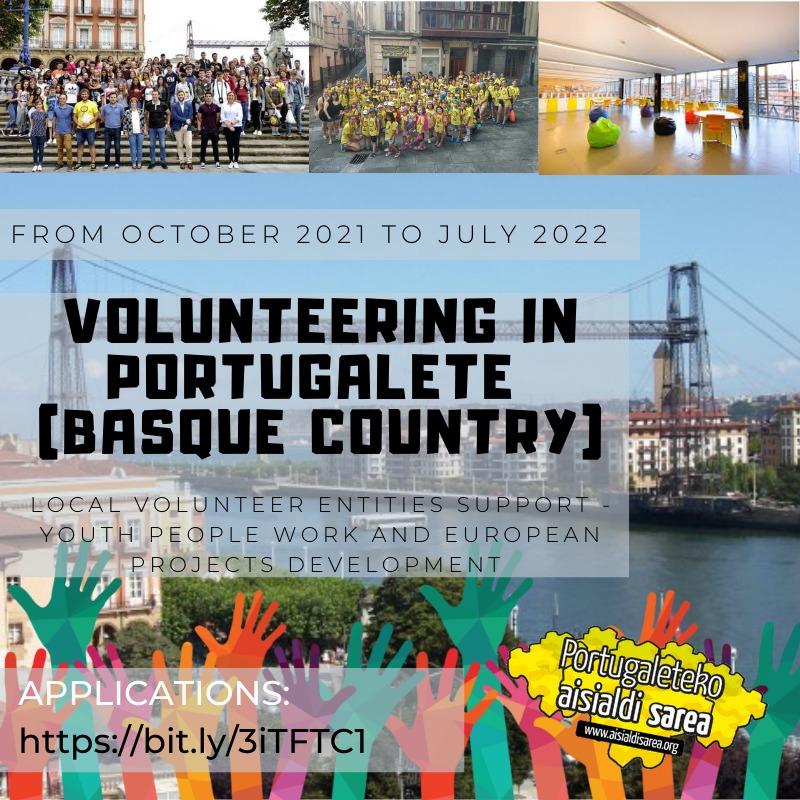 PORTUGALETE – EUROPEAN VOLUNTEERING 2021: ESC nei Paesi Baschi