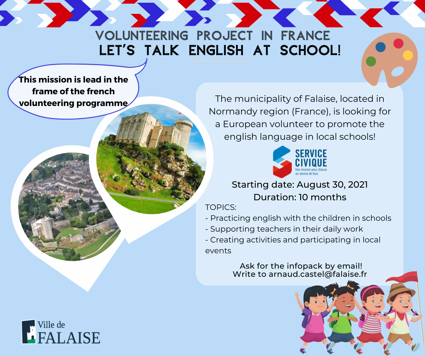 """Let's speak English at school!"": Service Civique in Francia"