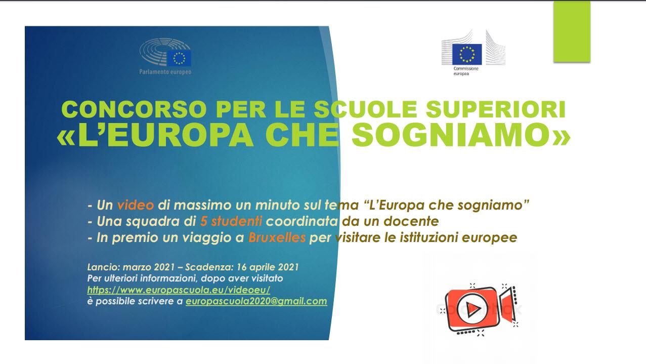 """""""L'Europa che sogniamo"""": concorso per le scuole superiori italiane"""