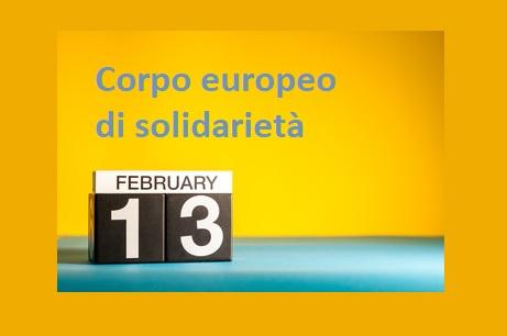 Corpo europeo di solidarietà: posticipata la prima scadenza del 2019!