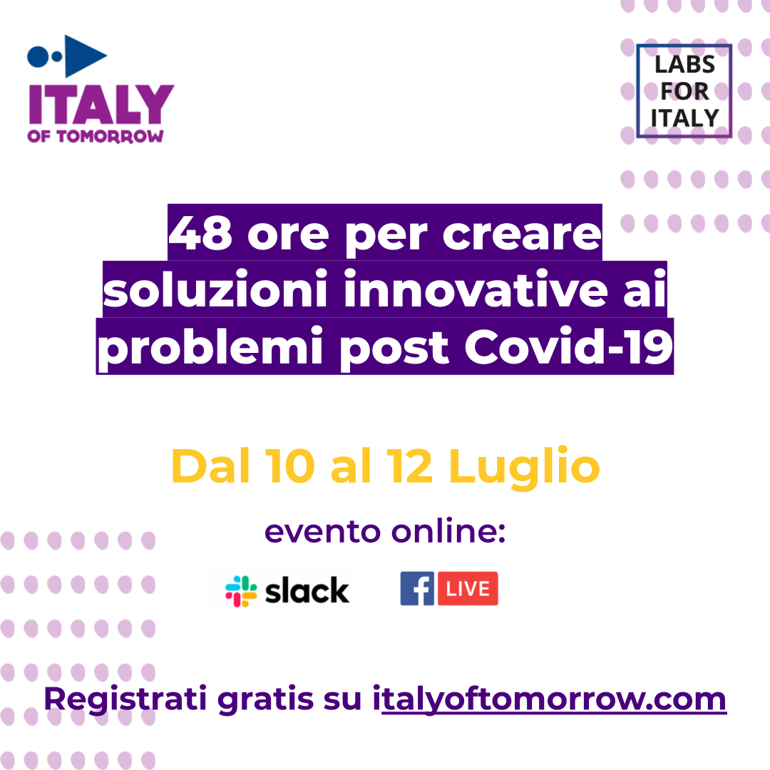 Italy Of Tomorrow: piattaforma digitale per trovare soluzioni post Covid-19