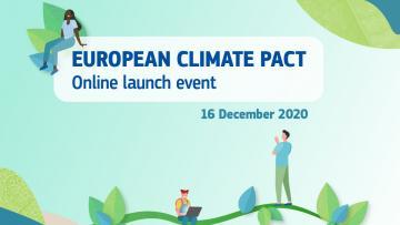 16 dicembre: evento di lancio del Patto climatico europeo!