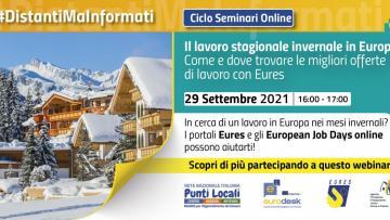 29 settembre: Webinar sul lavoro stagionale invernale in Europa