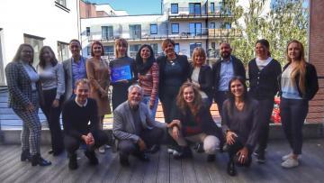 La delegazione della rete nazionale italiana Eurodesk Italy in visita alla Capitale Europea della Gioventù 2021