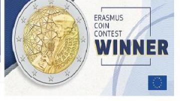 Scelto il disegno della moneta commemorativa per il 35º anniversario del programma Erasmus +