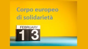 Corpo europeo di solidarietà: posticipata la prima