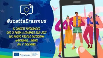 #scattaErasmus: concorso digitale dell'Agenzia Indire