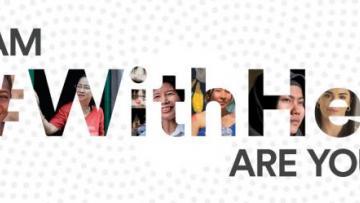Campagna #WithHer contro la violenza sulle donne
