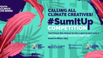 #SumItUp competition: per partecipare all'incontro mondiale dei giovani per il clima!