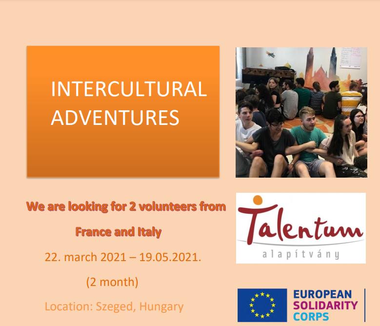 Intercultural Adventures: due mesi in Ungheria da Marzo 2021