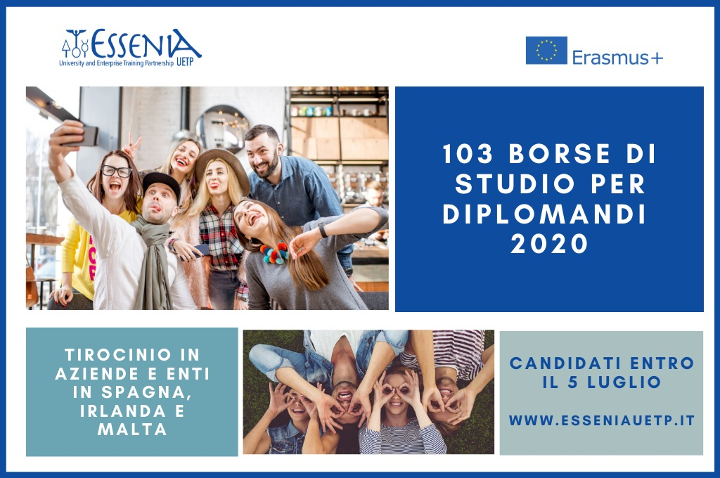 Tirocini per diplomandi 2020 Spagna, Irlanda e Malta